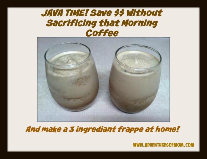 Recipe for iced mocha coffee