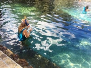 Snorkeling at Juniper Springs Recreation area in the Ocala National Forest. The Adventures of Mom