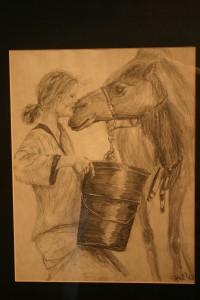 Adventurer Robyn Davidson Feeding Camels
