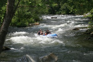 rafting with kids