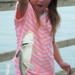 my daughter caught the fishing fever