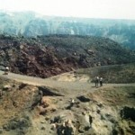 The rocky trek to George, Santorini's volcano