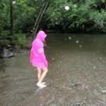 Rain or shine, kids can't resist a creek!