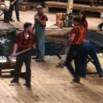 The lumberjacks are ESPN champion athletes and the competitions are real at Lumberjack Feud in Pigeon Forge.