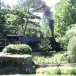 The Dollywood Express takes millions of park visitors through the 150 acre Tennessee theme park.