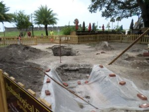 Archeology site in St. Augustine