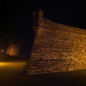 Castillo de San marcos in St. Augustine at night
