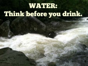 Water in the backcountry: think before you drink.