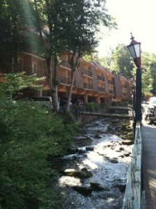 Hang out over the river in Gatlinburg.