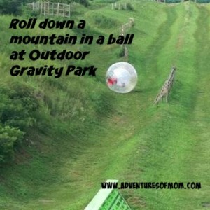 Make like a hamster at Outdoor Gravity Park in Pigeon Forge!