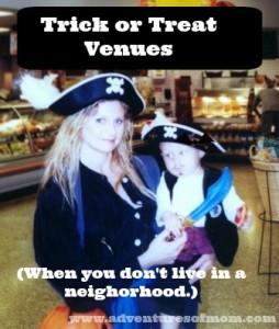 Alternative Trick or Treating venues