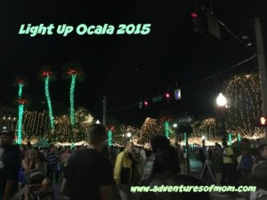Millions of festive holiday lights illuminated the night for Light Up Ocala 2015