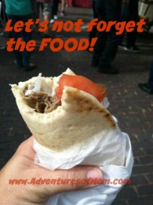 I had to try the yummy Greek gyros at the Gainesville Art Festival.