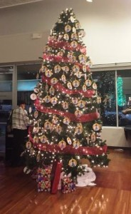 """The Marion Cultural Alliance """"Angel"""" Christmas Tree at Brick City Gallery."""