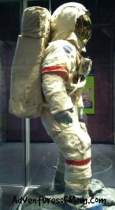 I had always thought my son would look good in a suit- but I never imagined it would be a spacesuit!