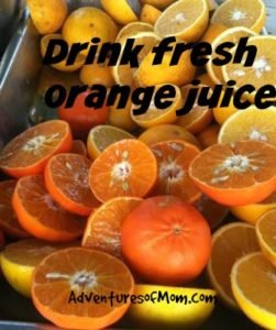 fresh from Florida, orange juice