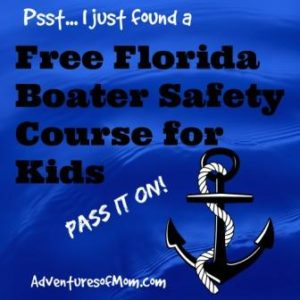 I stumbled across a free Florida boater safety class for kids run by Florida Virtual Schools