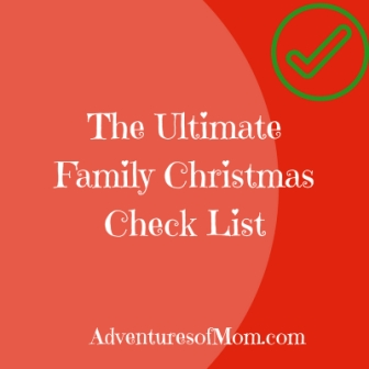 What to do? The Ultimate Family Christmas Check List