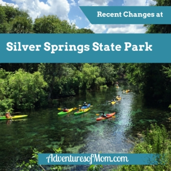 Recent changes at Silver Springs State Park